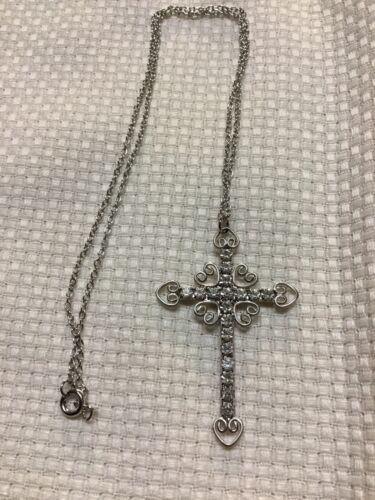 55x37mm 2.17x1.45in wCord Neck,ea  P4017 Filigree Cross Silver Filigree Cross Pendant