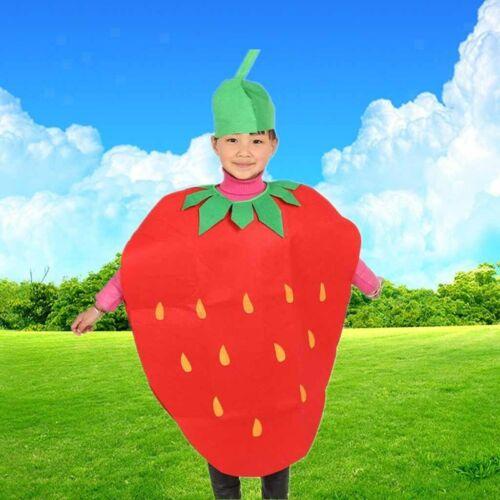 Kinder-Erdbeer-Anzug für Kinder-Tages-Party-Kostüm-Frucht-Abendkleid
