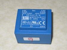 BLOCK VC5/2/9 2x9V 5VA 230V 50/60HZ PCB Transformer       1pcs
