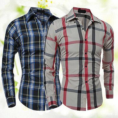 BLUELANS MEN'S WINTER CASUAL PLAID LONG SLEEVE FIT FLANNEL CLOTHES SHIRTS GOOD