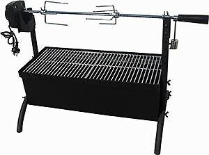 CHARCOAL-OUTDOOR-SPIT-ROASTER-ROTISSERIE-GRILL-240V-MOTOR