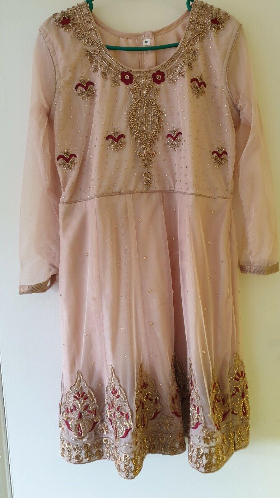Ladies Asian Pakistani Indian Fancy Dres Party Dress Beautiful 3pc Suit eid dres