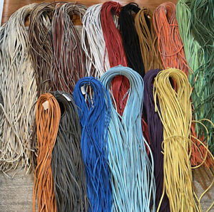 """Baseball/Softball Leather Bulk Glove Laces 6-pack 1/4"""" x 72"""" Made in USA"""