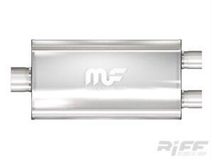 Magnaflow-Universal-Schalldaempfer-Edelstahl-3-034-2-5-034-Dual-Dodge-Ram-Ford-F150