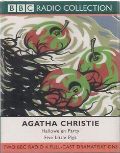 Agatha-Christie-Hallowe-039-en-Party-Five-Little-Pigs-2-Cassette-Audio-Drama-Poirot