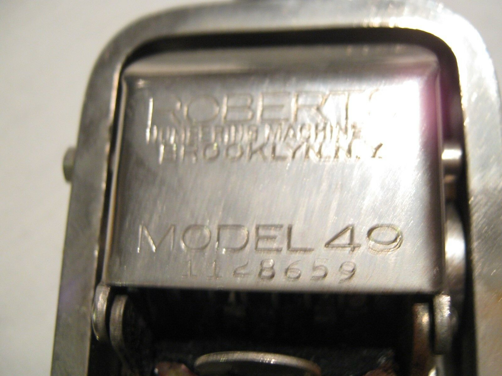 Automatic Numbering Machine, Roberts, Model 49 , Rx , P