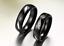 Coppia-Fedi-Fede-Fedine-Anello-Anelli-Nero-Fidanzamento-Nuziali-Cristallo-Occhio miniatura 3