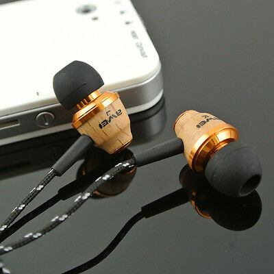 AWEI Super Bass Wooden in Ear Headphones Earphones Earbuds For Cell Phones MP3