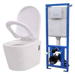 vidaXL-Zwevend-Toilet-met-Ingebouwde-Stortbak-Ei-Ontwerp-Wit-WC-Toiletten-Pot
