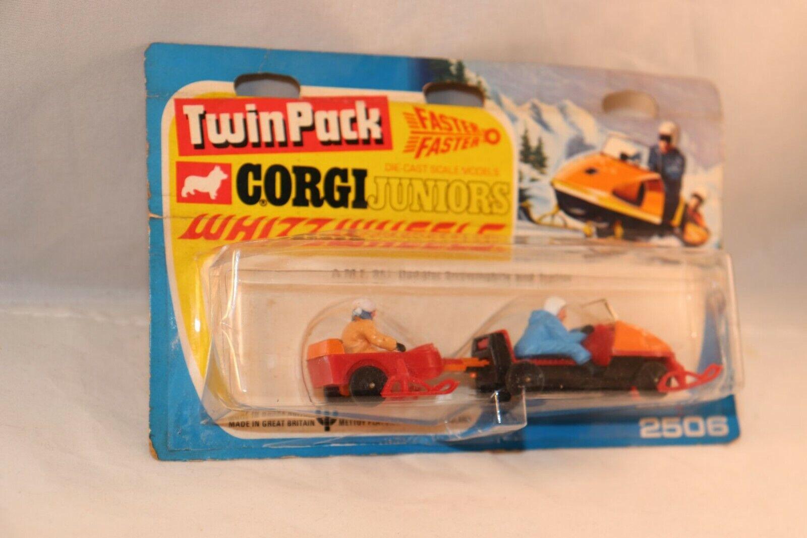 Corgi leksaker Juniors 2506 A.M.F. Ski -Daddler Snowbilene och tjärnväger mint på kort