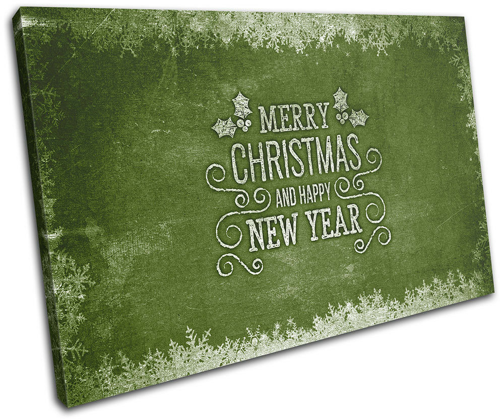 Christmas Decoration Wall Canvas ART Print XMAS XMAS Print Picture Gift Chalk 07 Green Chri 023978
