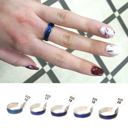 Hot Retro Color Change Mood Ring Oval Emotion Feeling Changeable Ring For Lovers