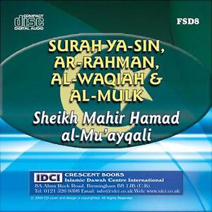 Details about Sheikh Mahir al Muayqali-Surah Yasin + Rahman + Waqiah + Mulk  (CD - FSD8)