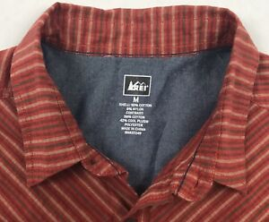 REI-Cool-Plus-Short-Sleeve-Camp-Shirt-Outdoors-Mens-Medium-Cotton-Nylon-Blend
