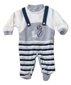 Completo neonato ciniglia prima nascita giorno e notte ELLEPI/' da 1 a 6 mesi