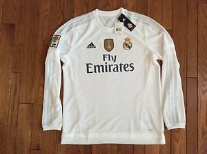 ece990089 Image is loading adidas-Cristiano-Ronaldo-Real-Madrid-Long-Sleeve-Home-