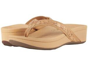 White Vionic Women/'s High Tide Platform Flip Flops Sandals Size 10 11