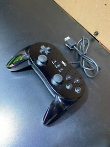Official-Nintendo-Wii-Pro-Controller-Classic-Black-RVL-005-OEM-TESTED-Free-S-H