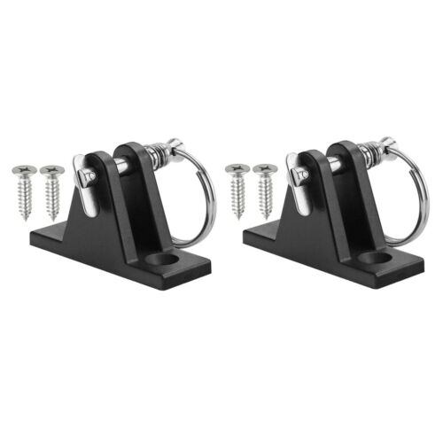 2pcs Durable DECK HINGE Bimini Top Boat  Marine Fitting with Quick Release Pin