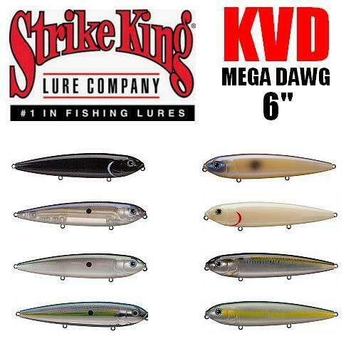 Strike King KVD Mega Dawg Topwater 6in Shad for sale online