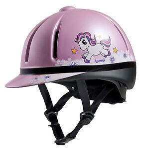 TROXEL small childrens LEGACY SLIM PROFILE pink unicorn HORSE TACK RIDING HELMET