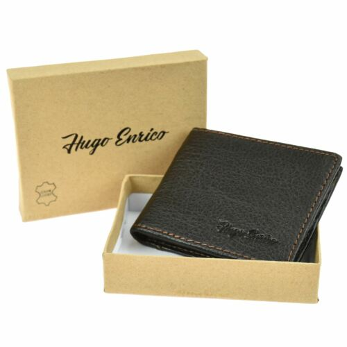 Mens Luxury Bifold Wallet Genuine Leather Coin Pouch Credit Card Money Holder