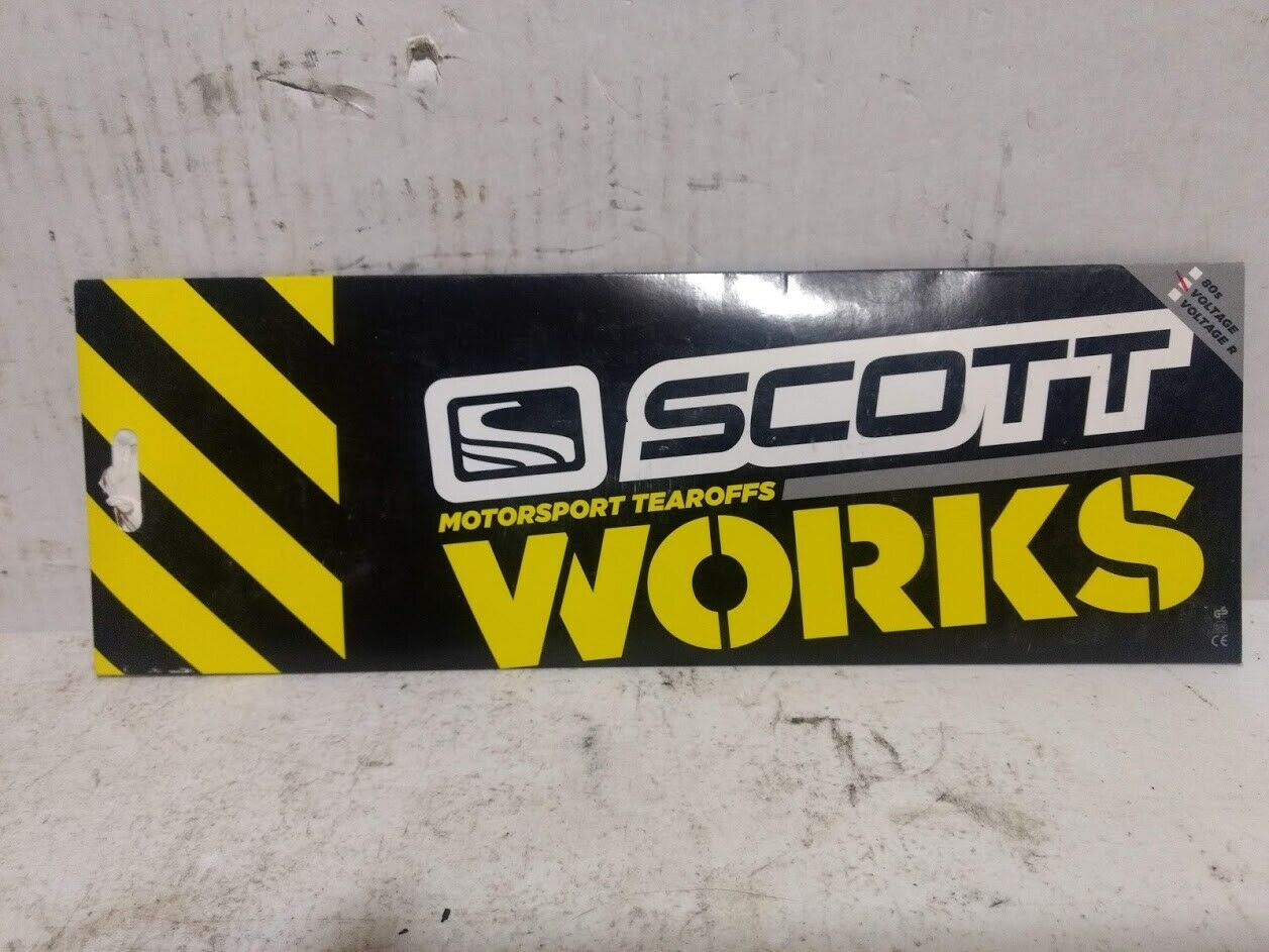 NEW SCOTT WORKS TEAR OFF/'S VOLTAGE GOGGLE GOGGLES 20PK 205154-223