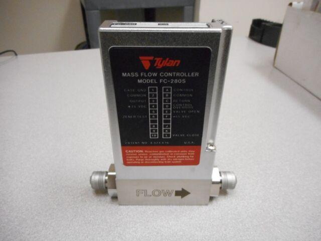Tylan FC-280 Masa Flujo Controlador Gas : N2 Gama: 2 Slpm Pn: Fc-280 Sav