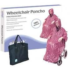 Wheelchair Rain Cover Warm Dry Poncho Waterproof Cape Hood Universal Pink + BAG