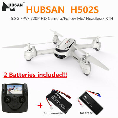 Hubsan H502S X4 FPV Quadcopter Drone W/ GPS 720P Camera Follow Me Auto-Return UK