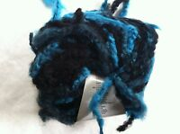 Lang Yarns Sasha 79 Blue Black Long Fringed Superchunky Wool Bl Yarn 100gr