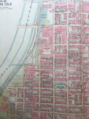 1922 G.W BROMLEY PA PHILADELPHIA COPY PLAT ATLAS MAP RITTENHOUSE SQUARE