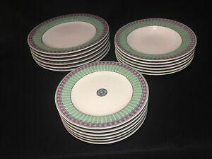 PFALTZGRAFF-ATMOSPHERE-034-Luminescence-034-Pink-Green-Diamonds-Choice-of-Plates-Bowls