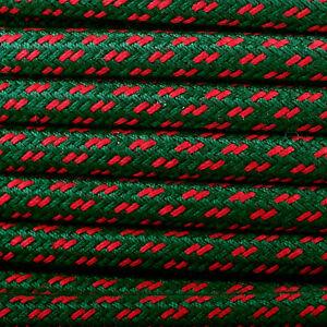 Textile-Cable-Conduite-Fibre-Tresse-Rond-Abaca-Christmast-3x0-75-H03VV
