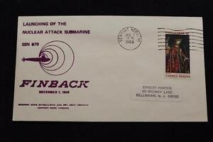 Navale-Cover-1968-Macchina-Annullo-Postale-Lancio-Uss-Finback-SSN-670-3742
