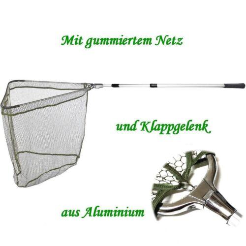 Balzer 3,15m 3-tlg 55 x 55cm Netz gummiert Unterfangkescher Alu Kescher