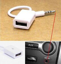 AUX-Audio Stecker 3.5 mm männlich Adapter auf USB Buchse Kabel Musik Autoradio