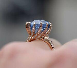 2-5CT-Round-Cut-Tanzanite-14K-Rose-Gold-Over-Engagement-Wedding-Vintage-Ring