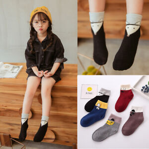 5-Pairs-Toddler-Girls-Ankle-Socks-Cotton-Breathable-For-Winter-Bunny-Bow-knot