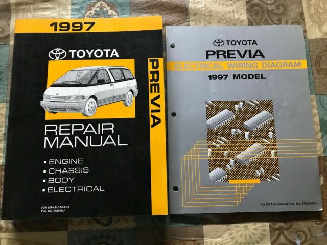 Toyota Previa Repair Manual Electrical Wiring Diagram 1997 ...
