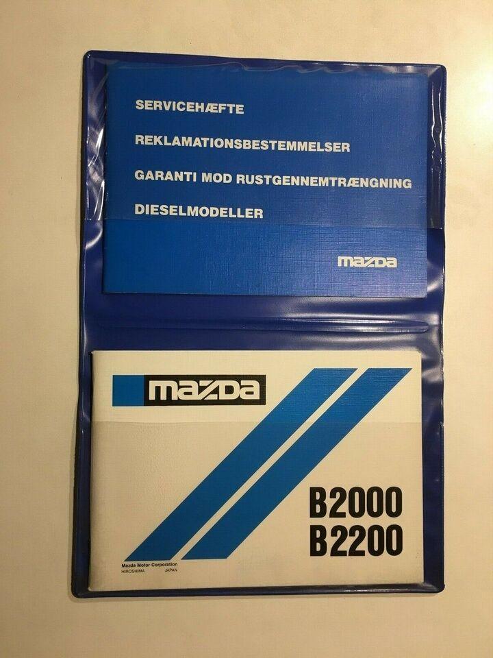 Instruktionsbog, Mazda Pick-Up B serie