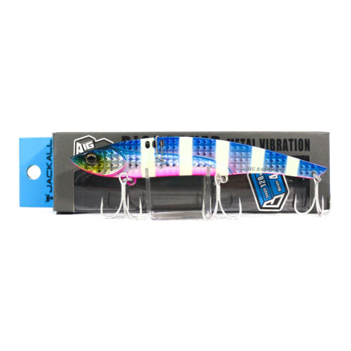 8228 Jackall Big Backer 128 Metal Vibration 44 grams Sinking Lure Blue Pink GS