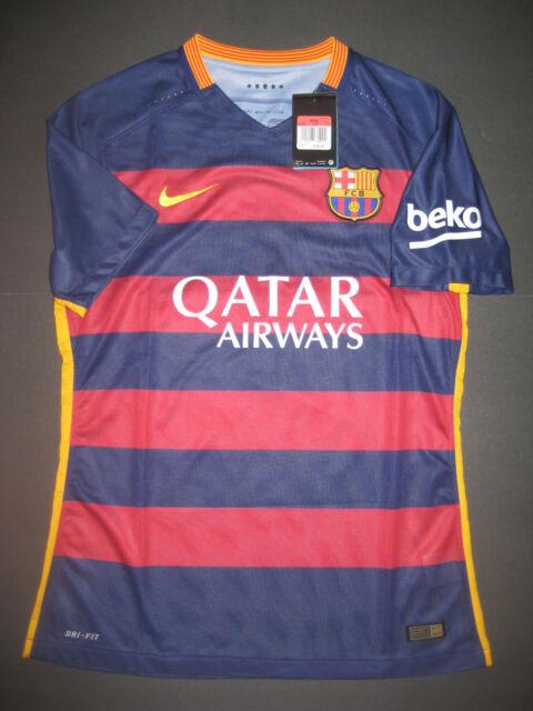 f80967bb4 2015-2016 Nike Authentic FC Barcelona Match Home Jersey Shirt Kit Messi  Neymar