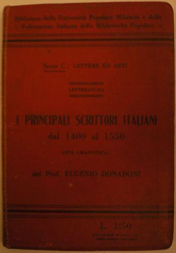 (manuali)principali Scrittori Italiani Dal 1400 Al 1550 Tecniche Moderne