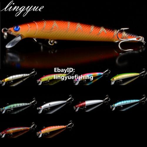 9.5cm//8.5g hard minnow fishing lures treble hooks crankbaits baits tackle new