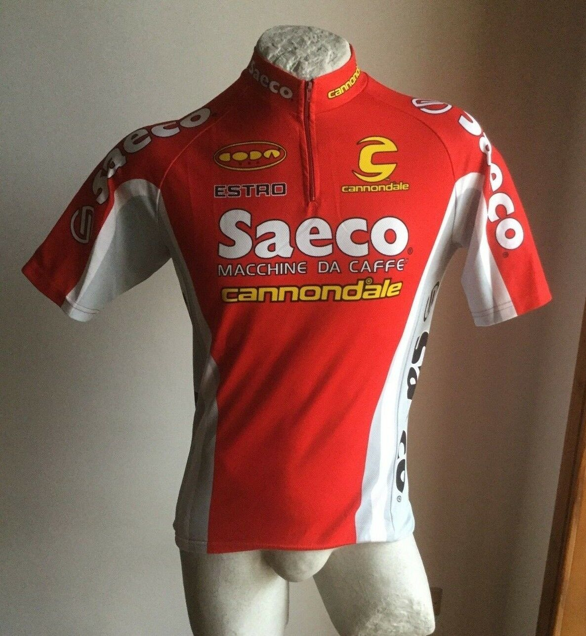 CANNONDALE SAECO CICLISMO ESTRO MAGLIA RADTRIKOT CYCLING SHIRT JERSEY