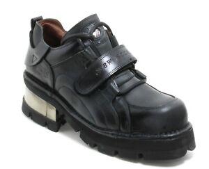 221 Chaussures pour Hommes Cuir Plateforme 90er Gothique Bottes en New Rock D 45