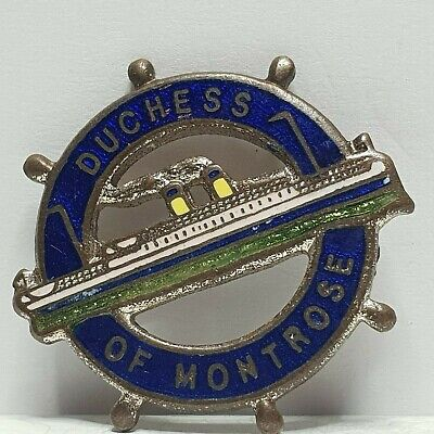 Burns /& Laird line MV Lion ship wheel enamel badge