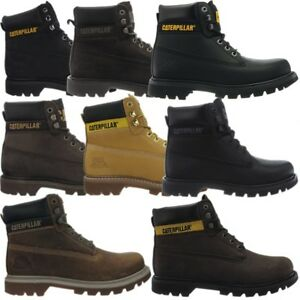 Details about Caterpillar Colorado Black Brown Beige Mens Leather Boots Boots 6 Colors NEW show original title