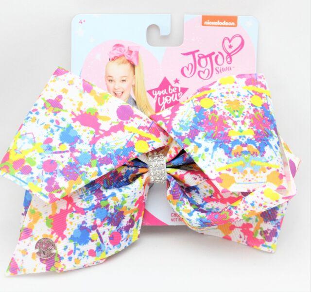 Jojo Siwa Paint Splatter Hair Bow 1 Pc